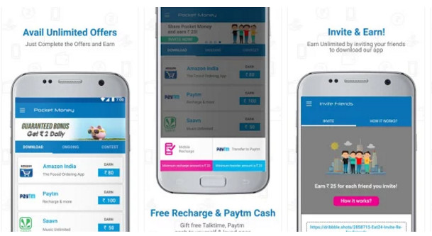 pocket money - free recharge apps