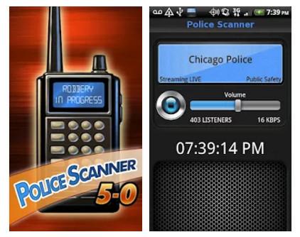 police scanner 5-0 free app
