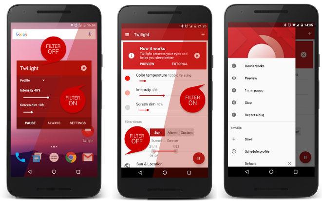 redshift - best apps to filter blue light
