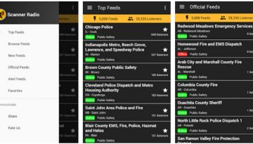 Police scanner radio app