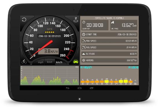 Android speedometer gps app