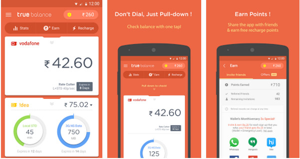 true balance free mobile recharge apps for Android