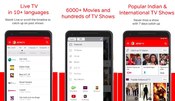 Airtel TV - Indian Live TV apps