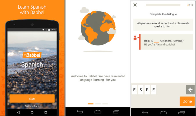 Babbel - best app to learn spanish english