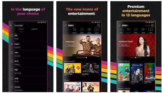 Zee5 - Best Indian Live TV apps