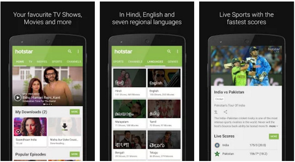 hotstar - best Indian live TV app