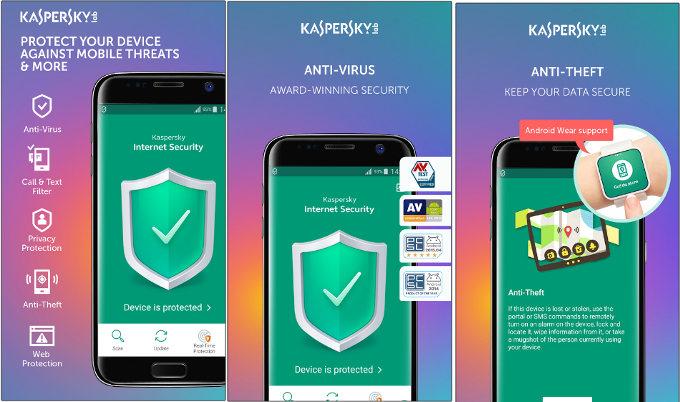 Kaspersky Antivirus Security Android 2017