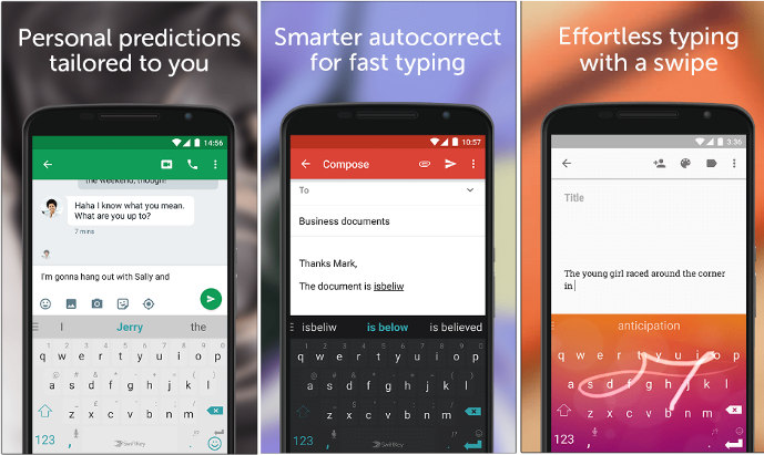 swiftkey - best android keyboard apps