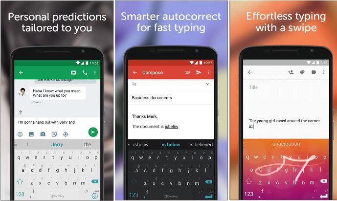 Swiftkey - أفضل تطبيقات لوحة مفاتيح Android