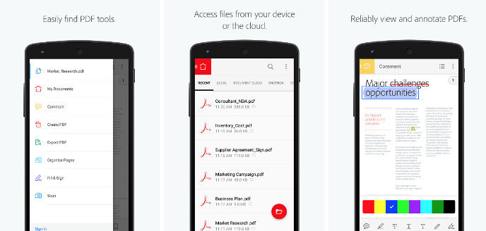 Adobe Acrobat - best Android PDF Reader