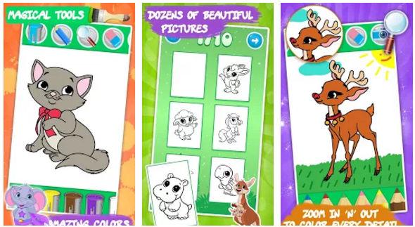 Animals coloring book for Android and iPhone