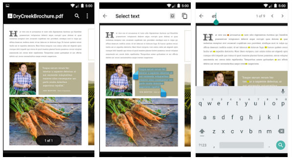 Google PDF viewer for Android