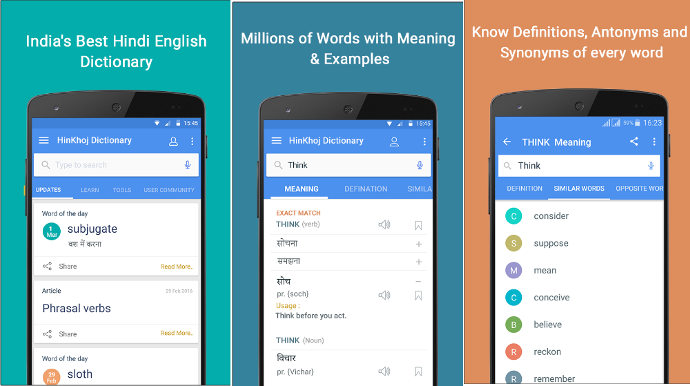 HinKhoj - best dictionary app for Android