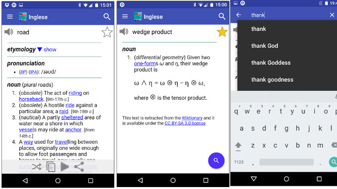 Offline English Dictionary app for Android