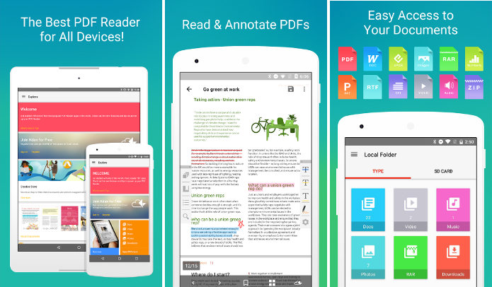 Android PDF reader KDan software