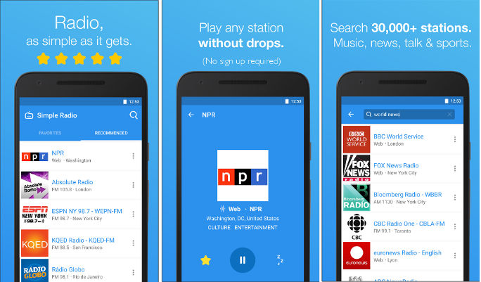 Simple Radio app for Android