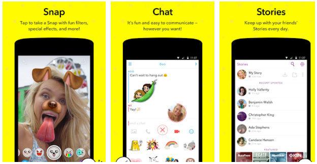 Snapchat - best apps like Flipagram