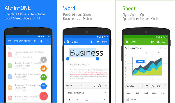 Polaris Office app for Android