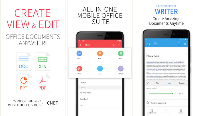 WPS Office app for Android