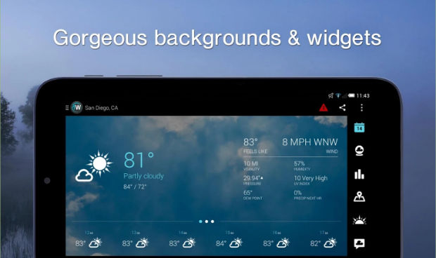 Top 6 Best Android Weather Widget App