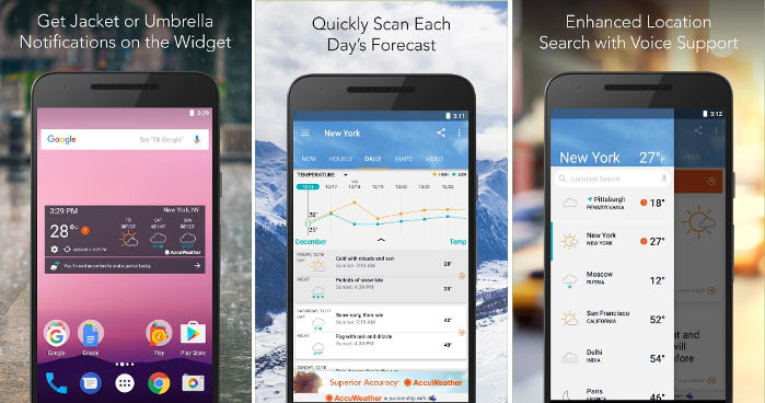 AccuWeather - Android weather widget app
