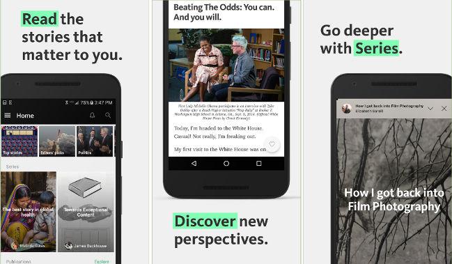 Medium app - best tumblr alternative apps