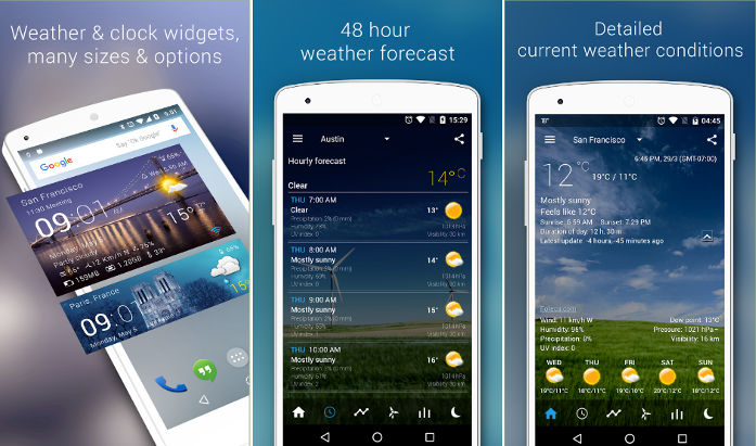 Transparent weather widget app