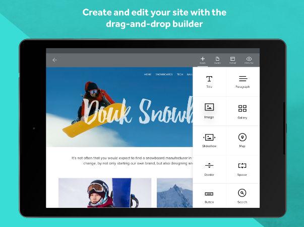 Weebly website builder app
