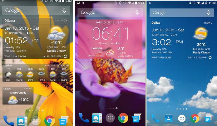 weather and clock widget app