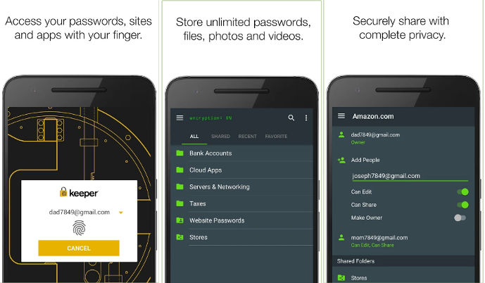Keeper - best password manager android