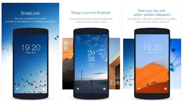 SnapLock - Android lock screen app