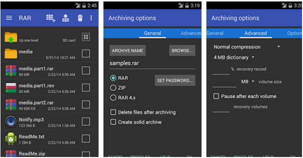 WinRar - Best file compression apps for Android