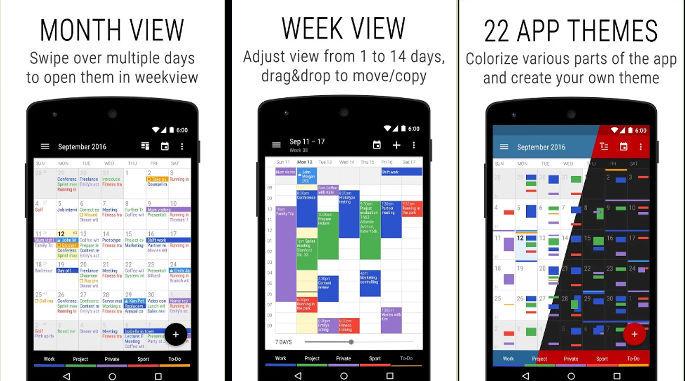 Business Calendar 2 app
