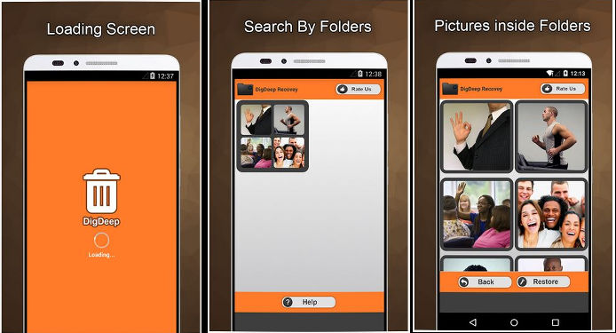 DigDeep - best apps to recover deleted photos