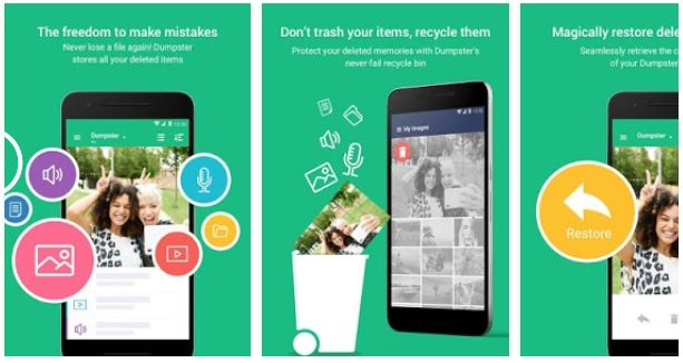 Dumpster - best data recovery apps for Android