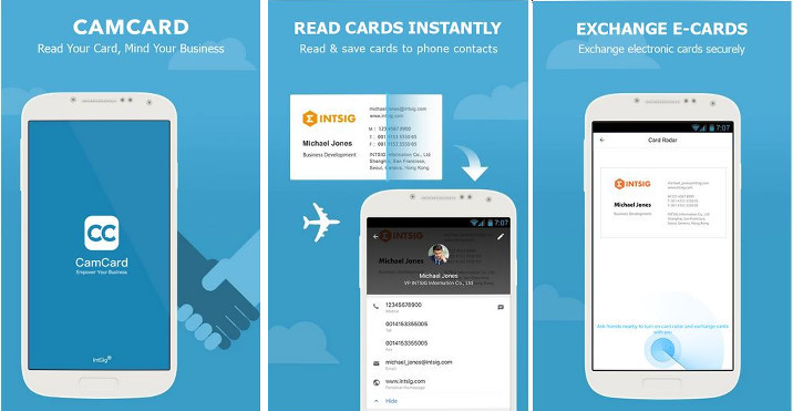 Best business card scanner apps for android and ios with 10 million users camcard is the most popular business card app on the google play and apple app store the free version of camcard allows you to scan reheart Images