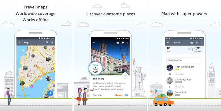 Sygic - best trip planner apps for Android and iOS