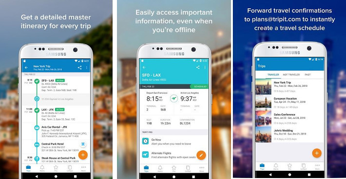 Tripit - best travel planning apps for Android and IOS