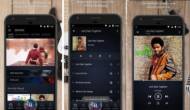 Amazon Prime Music: App to listen and download songs