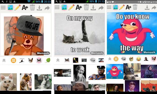 Memasik - best meme maker apps for Android