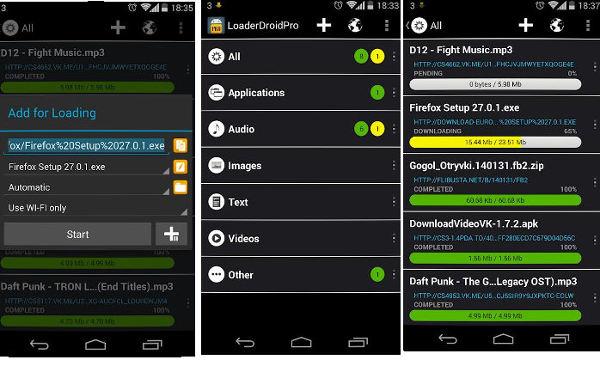 Loader Droid app