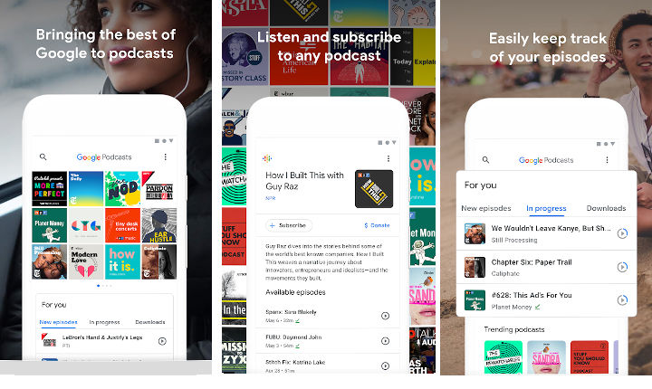 Google Podcasts apps