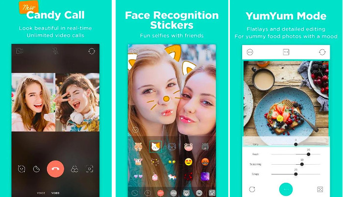 Candy Camera - best selfie app for Android