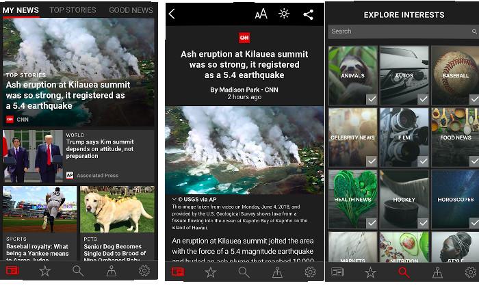 Microsoft News aggregator app