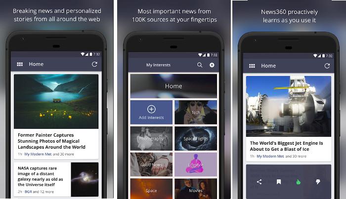 News360 - best news aggregator apps