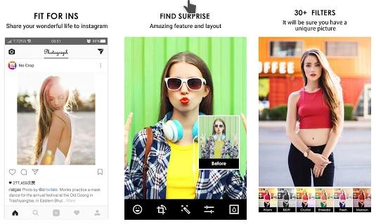 No Crop Pic - Best Android Photo resizer apps