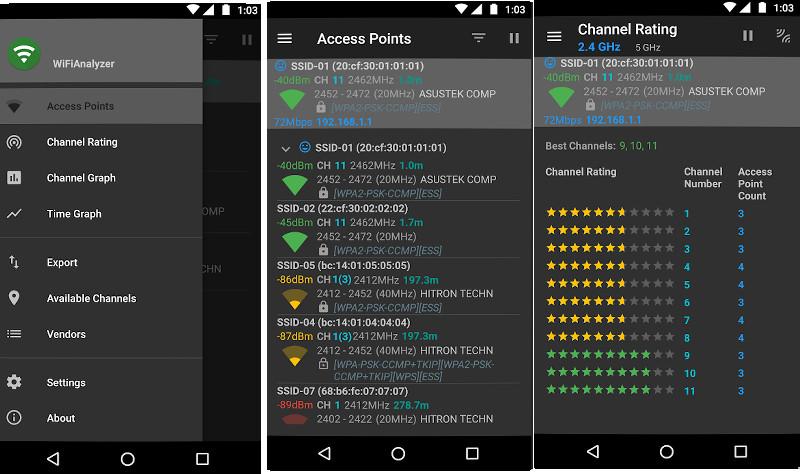 WiFi Analyzer app