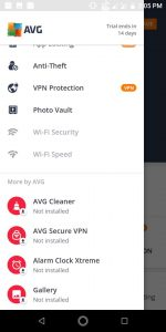 AVG Security features