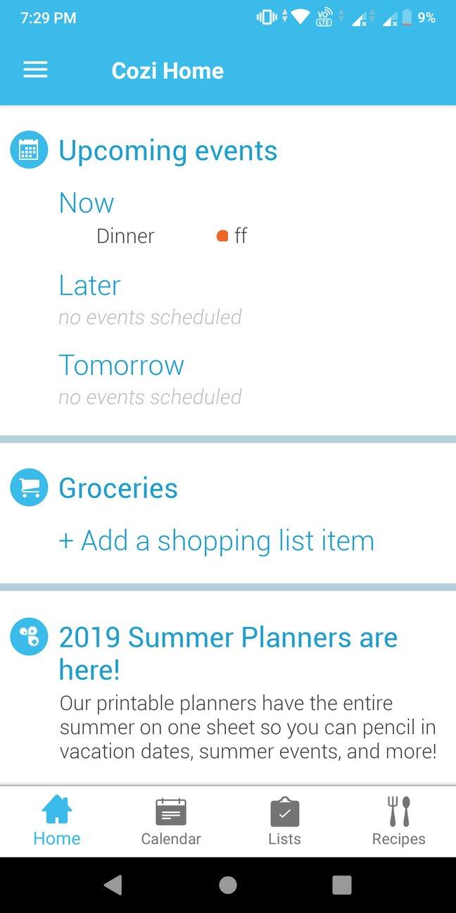 Cozi app review: Family calendar and organizer
