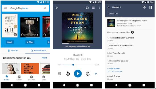 Google Play Books - best audiobook player apps